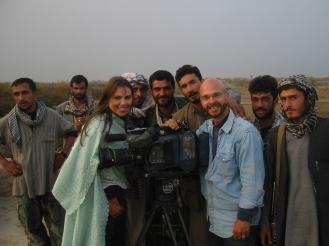 19. Lara Logan, Gen Babojan and the crew